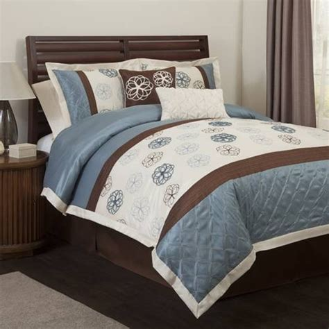 brown and blue comforter blue and brown bedding bedroom pinterest
