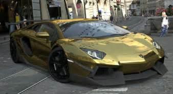 Lamborghini Aventador Gold Chrome Lamborghini Aventador Lp700 4 Gold Chrome Gran Turismo 5