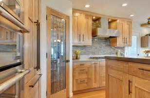 transitional birch cabinets
