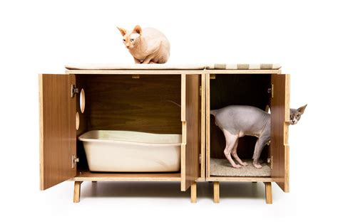 Box Furniture by Mid Century Modern Cat Litter Box Furniture Large Cat Litter