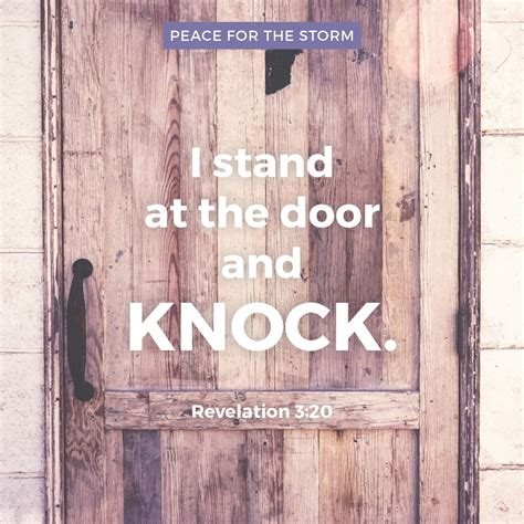 I Stand At The Door by Revelation Archives Peace For The