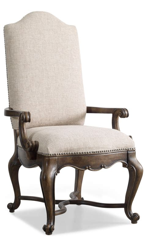 upholstered dining chairs with arms hamilton home rhapsody upholstered dining arm chair with