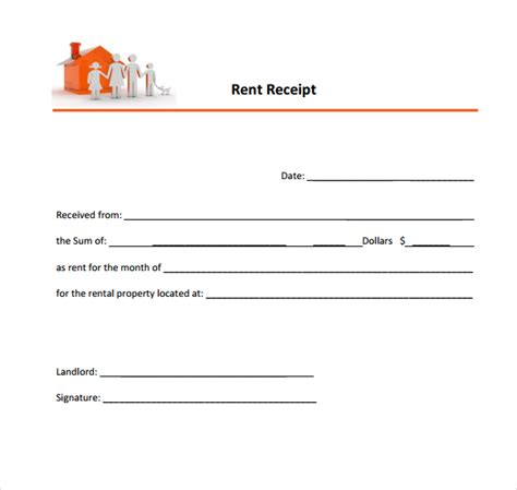 template of rent receipt 6 free rent receipt templates excel pdf formats