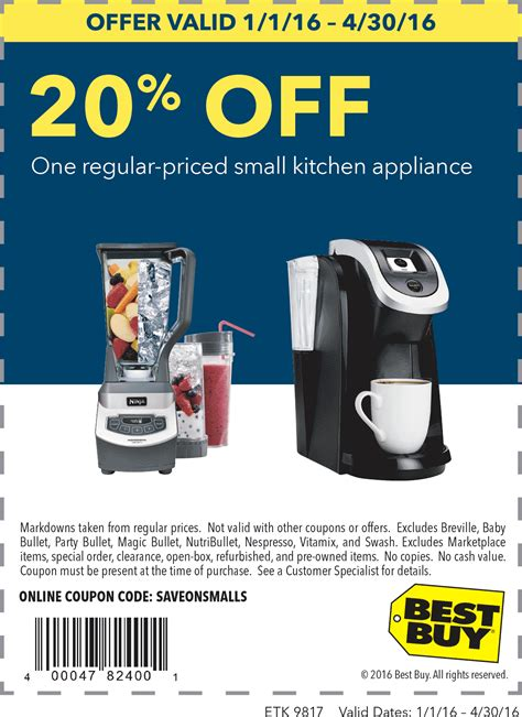 best coupon best buy coupons 20 a single small appliance at
