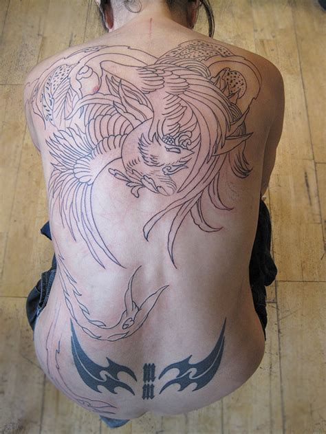phoenix back tattoo designs painting august 2010