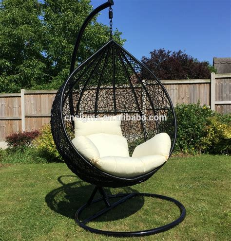 swinging pod chair 2016 indoor or outdoor black rattan adult swing chair