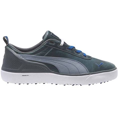 golf shoes monolite spikeless golf shoes grey white blue color