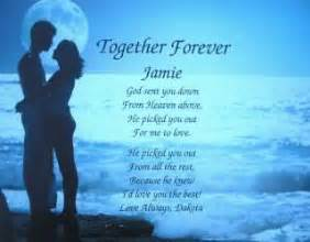 In Loving Memory Personalized Gifts Love Poems For Him For Her For The One You Love For Your Boyfriend For A For A Girlfriend