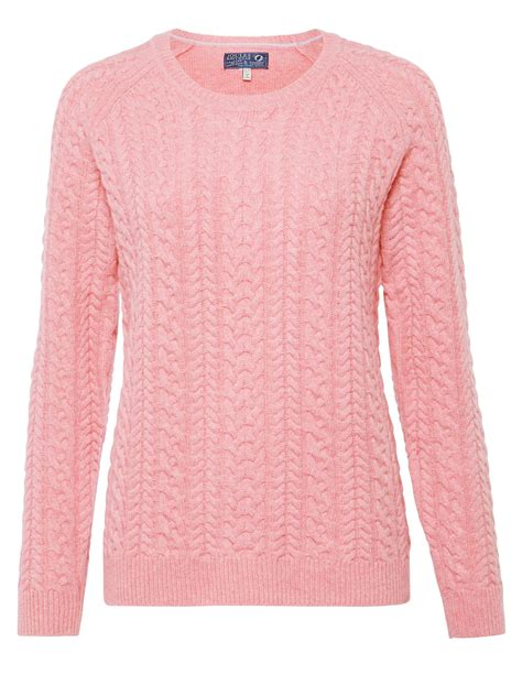 pink knit cable knit jumper womens pink best cable 2017
