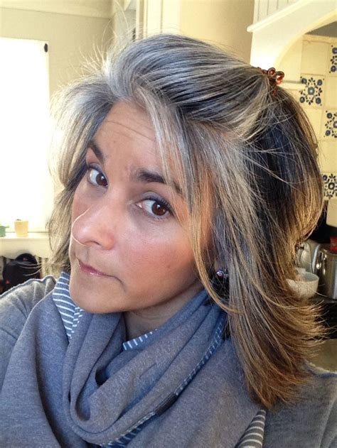 salt and pepper hair with highlights google search growing out gray with balayage google search beauty