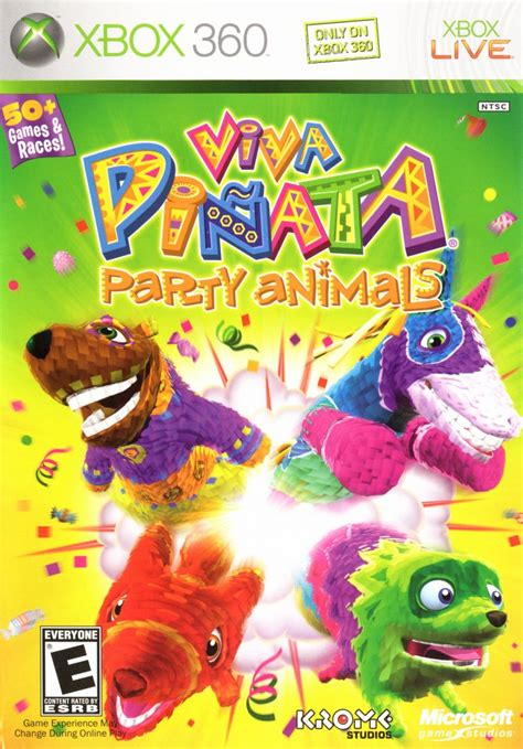 Cover Viva viva pi 241 ata animals 2007 xbox 360 box cover
