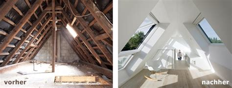 dachboden ausbauen vorher nachher dachkammer