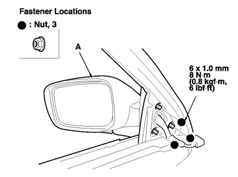 service manual removing mirror from a 2010 acura rdx service manual remove mirror switch on service manual removing mirror from a 2001 acura cl fs 2001 acura cl drivers side mirror
