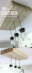 Diy Kitchen Light Fixtures How To Make A Pallet Wood Light Box Rustic Style Pallets And Lighting