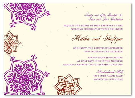 wedding reception invitation wording sles india indian flowers plantable wedding reception invitations reception invitations and weddings
