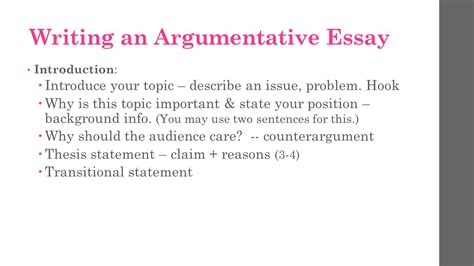 Why Is It So To Write An Essay by Argumentative Essay Take Notes Ppt