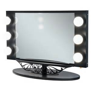 Vanity Mirror With Lights Black Starlet Lighted Vanity Mirror In Simple Frame Design