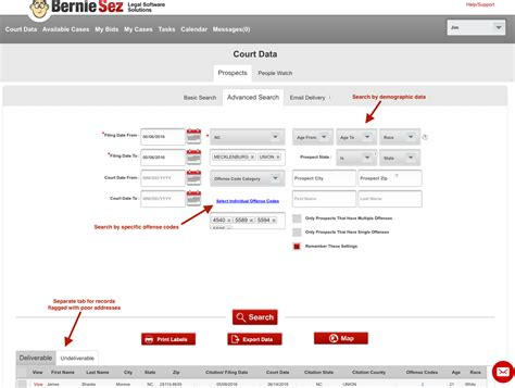 Court System Simple Search Direct Mail Court Leads For Lawyers In Nc And Pa Berniesez