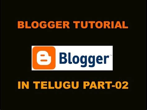 vlookup tutorial in telugu blogger video tutorial in telugu part 2 www timecomputers