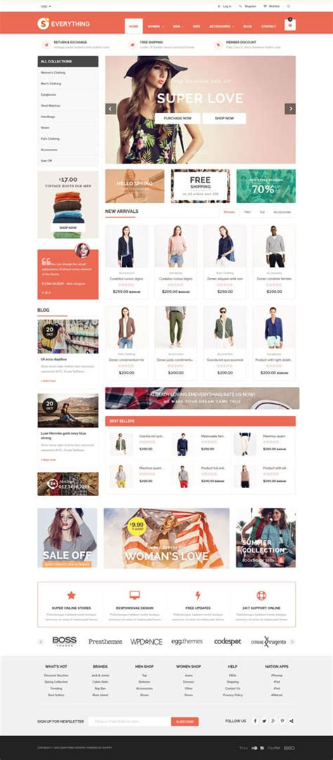 shopify themes lookbook 35 best responsive shopify themes 2016