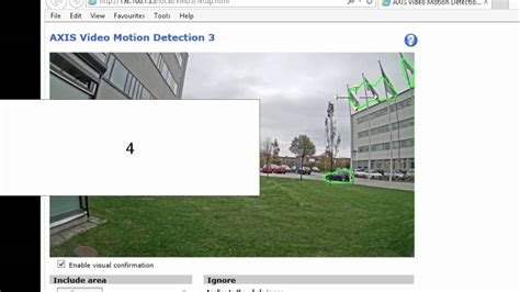 motion detection tutorial getting started with axis motion detection