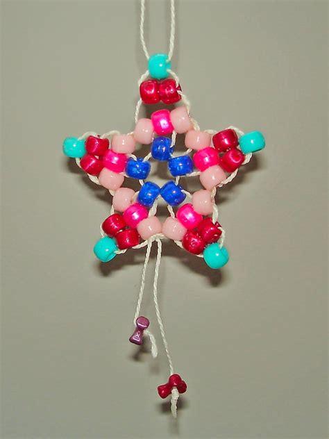 pony bead star ornament marlies cohen
