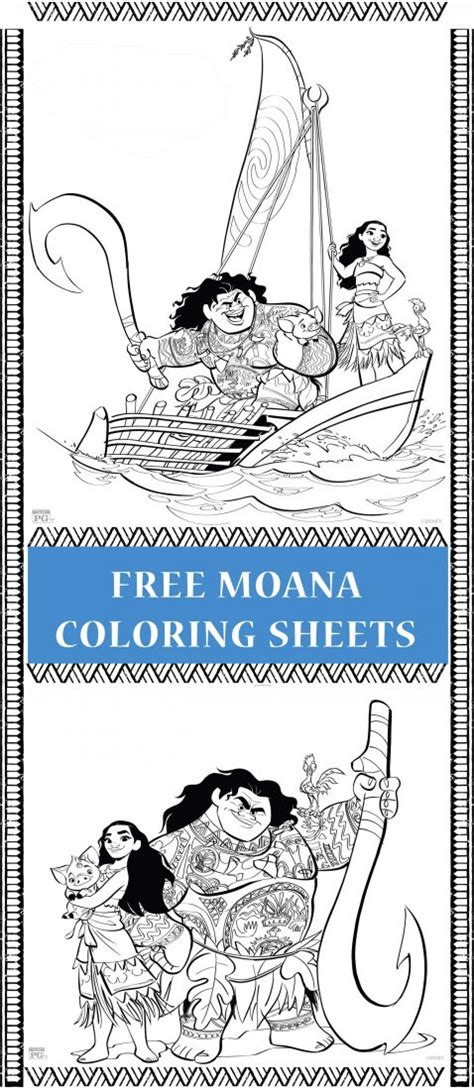 moana coloring pages moana coloring pages  activity
