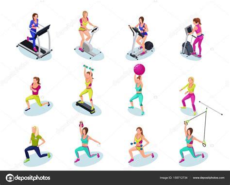 imagenes fitness animadas sistema de personas isom 233 trico fitness chicas correr