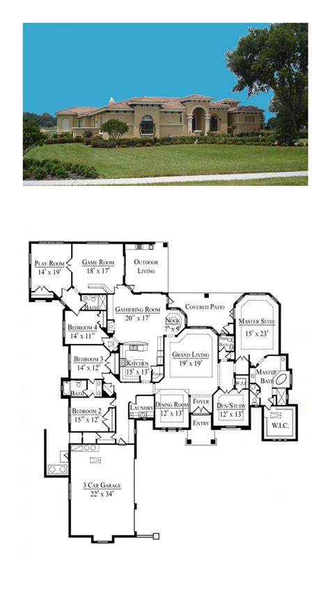 santa fe southwest house plan 54606 49 best santa fe house plans images on pinterest car
