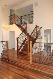 Home Interior Railings Custom Wrought Iron Interior Railing Artisan Bent Design