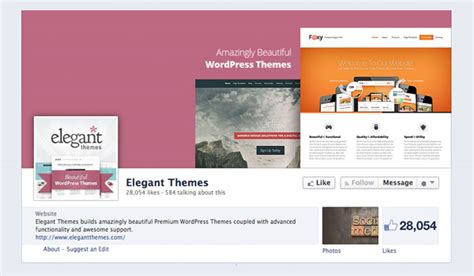 elegant themes gallery page how to create a facebook page for your wordpress website