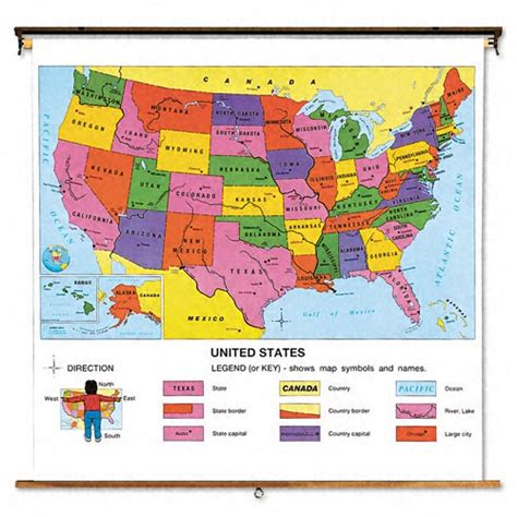 map of the united states with key advantus united states political map cqz79306501