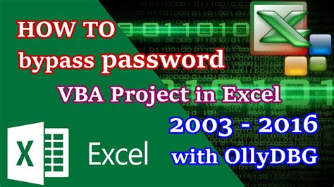remove vba project password excel 2003 reverse engineering tutorial how to remove password