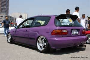 tuned purple honda civic hatchback 92 95 photo s