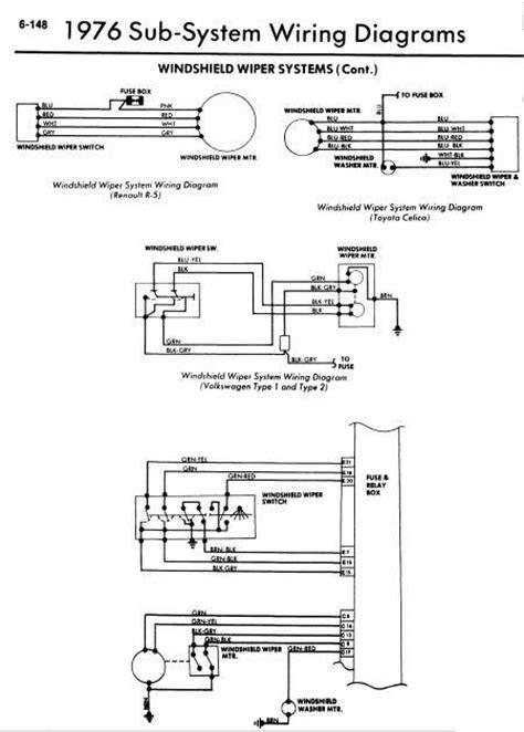 repair-manuals: 1976 Models Windshield Wiper Wiring Diagrams