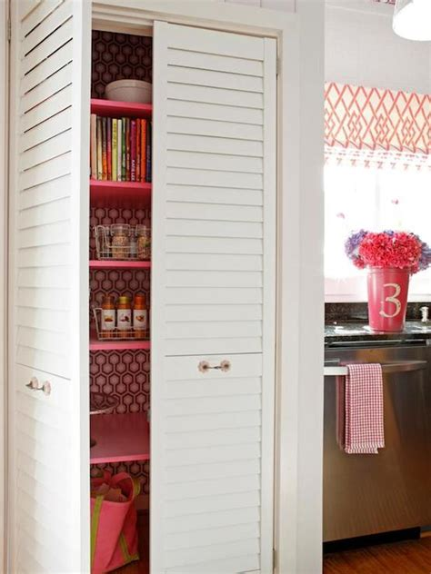 Diy Pantry Doors by Pantry With Louvered Doors Eclectic Kitchen Diy Network