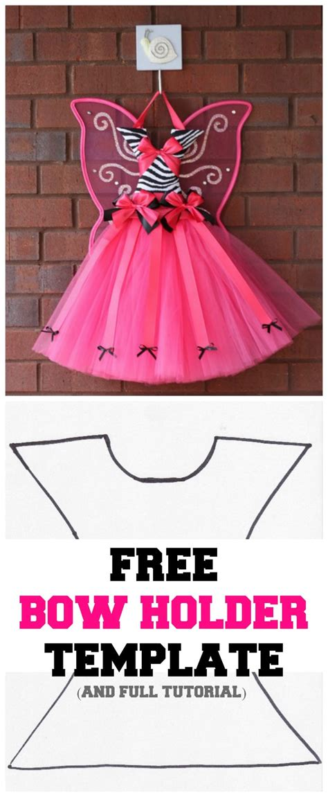 pattern for bow holder tutu hair bow holder template free momdot