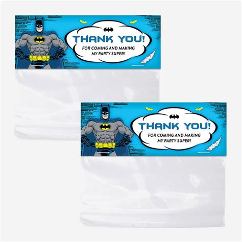 Goodie Bag Paper Bag Batman batman bag toppers printable favor bag toppers birthday