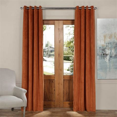 orange velvet curtains exclusive fabrics furnishings blackout signature rusty