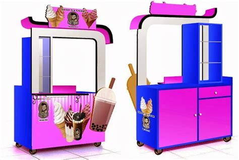 desain gerobak ice cream gerobak ice cream rp 3 200 000 jasa pembuatan gerobak