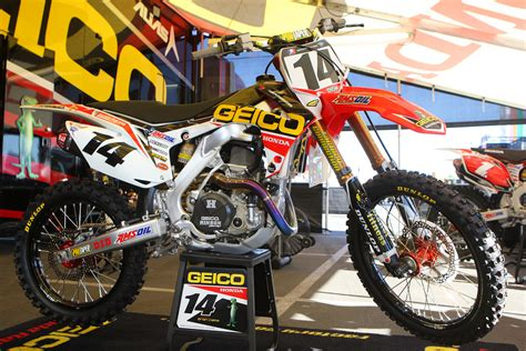 honda motocross racing honda crf 450 team geico honda kevin windham supercross