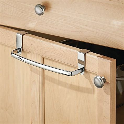 kitchen cabinet towel holder interdesign axis over the cabinet kitchen dish towel bar