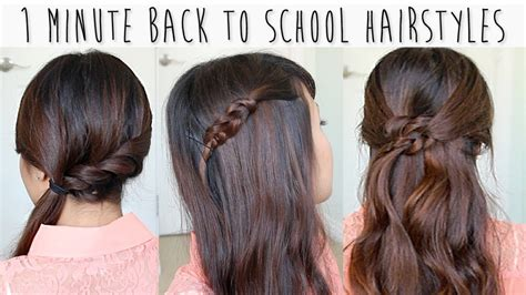 quick easy back to school hairstyles hair tutorial 3 simple easy spring summer hairstyles hairstyle