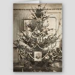 old christmas tree decorations and christmas cards in
