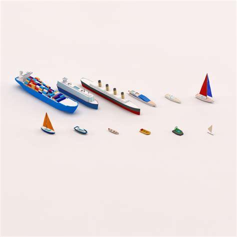 cartoon boat 3d model 3d model cartoon ships boats pack