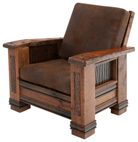 Upholstered Barn Wood Chair   Armchairs And Accent Chairs   by Woodland Creek Furniture
