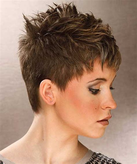 very short spikey hairstyles for women very short layered spiky hair