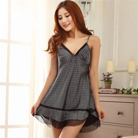 Babydoll Hitam V Neck Lace Baju Tidur wanita kemeja tidur promotion shop for promotional wanita
