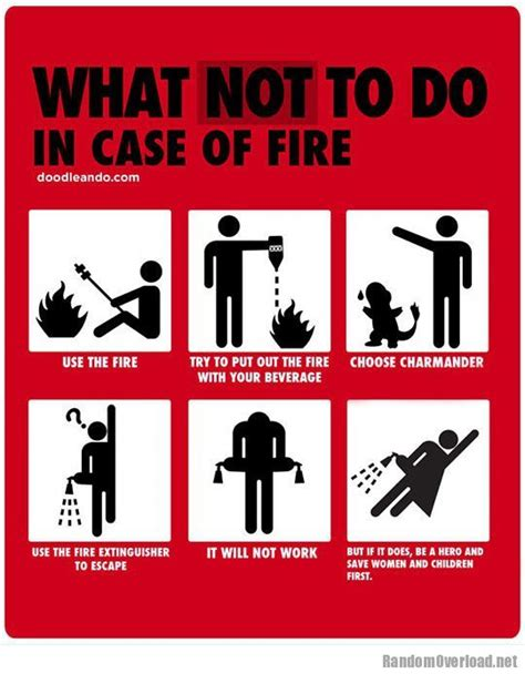 what not to do what not to do in case of fire randomoverload