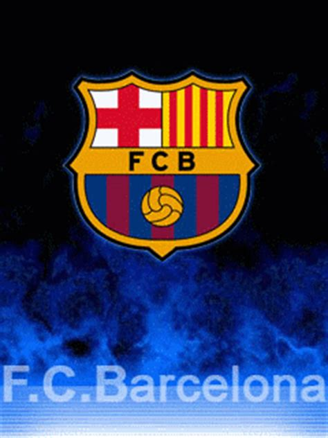 wallpaper gif barcelona wallpaper animasi handphone logo barcelona fc tadungkung